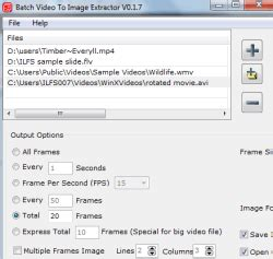 Free Software to Batch Extract Images from Videos